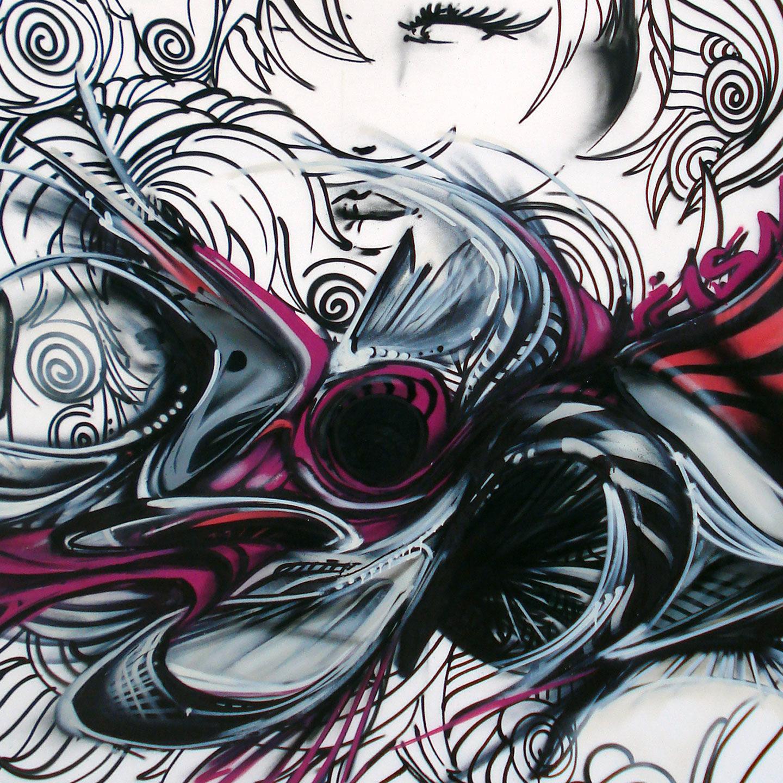 colors spray art graffiti street urban peinture toile spray artiste jasm1 jasm one issam rezgui musée toile nuit des musée performance sion maorie valais châteaux suisse visage illustration rose visage noir blanc