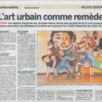 article de presse du nouvelliste valais atelier hip hop jasm 1 jasm1 jasm one issam rezgui sion suisse graffiti street art