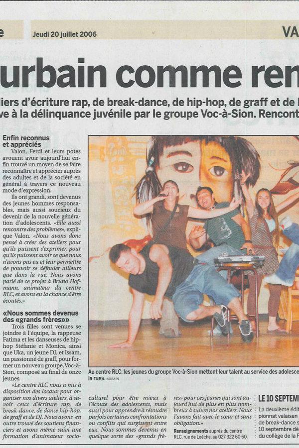 Le Nouvelliste – l'art urbain comme remède