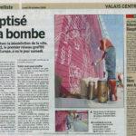 article de presse du nouvelliste valais collectif 21 jasm 1 jasm1 jasm one issam rezgui sion suisse graffiti street art réseaux légal