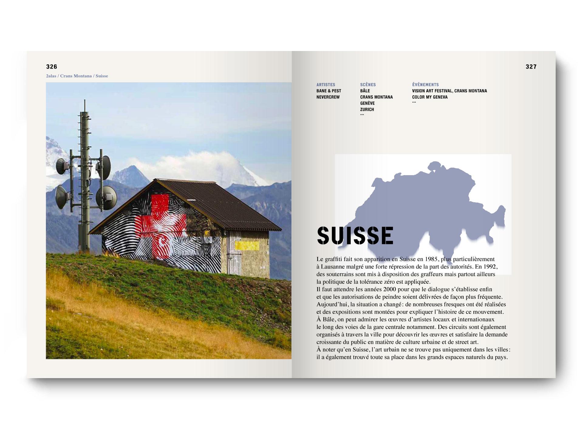 book europe street art and graffiti 2018 page issam rezgui jasm one jasm jasm1 jasm.1 vision art festival suisse crans montana